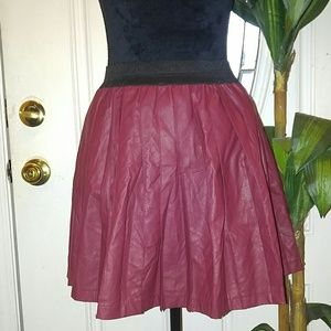 Cotton On, faux red leather mini skirt
